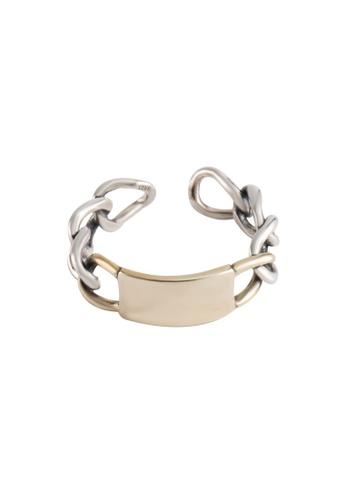 OrBeing 白色 Premium S925 Sliver Geometric Ring B8DEAACA0A3575GS_1