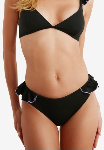 Trendyol black Frill Bikini Bottom 88F89US0EE97BBGS_1