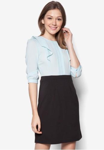 Suki 假兩件七分袖連身裙, 服zalora是哪裡的牌子飾, 洋裝