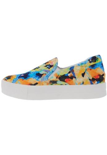 Maxstar C7 30 Flower Denim White Platform Slip on Sneakers US Women Size MA168SH18DKFHK_1