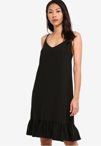 ZALORA BASICS black Basic Drop Waist Hem Dress EC318AA48B56D3GS_1