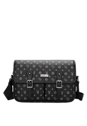 Playboy black Men's Sling Bag / Chest Bag / Crossbody Bag 2F1CDACADC649DGS_1