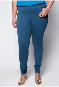 Plus Size Ankle Length Trousers 2092