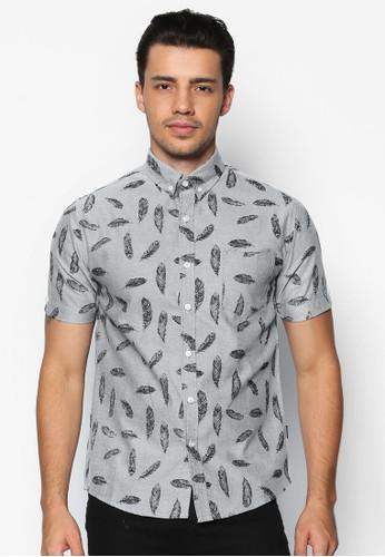 印花短袖襯衫, 服飾, 印花襯esprit暢貨中心衫
