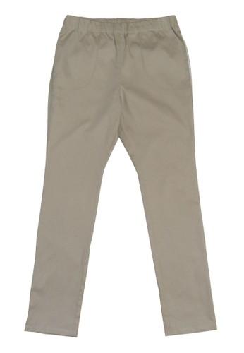 卡其鬆緊長褲, esprit hk服飾, 直筒褲