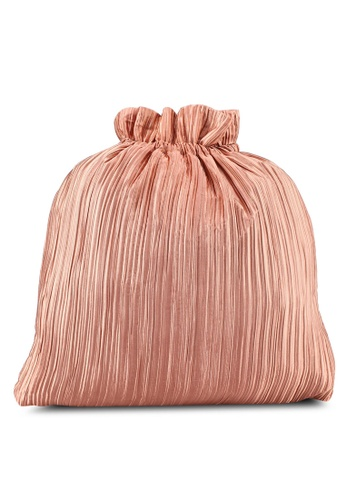 Rubi pink Juliet Pleated Draw String Bag 0007EACFD14134GS_1