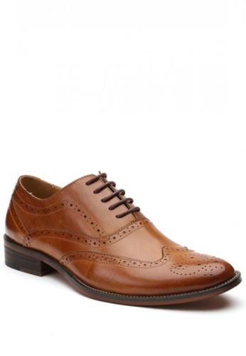 Kings Collection brown Titan Brogue Shoes KI877SH65HEKPH_1