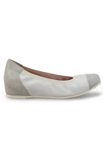 Shu Talk 銀色 意大利手工製雙色氣質中低跟鞋 SH544SH09RJHTW_1