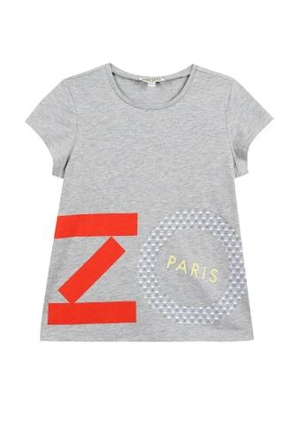 KENZO KIDS grey KENZO GIRLS T-SHIRT 52500KAB044683GS_1