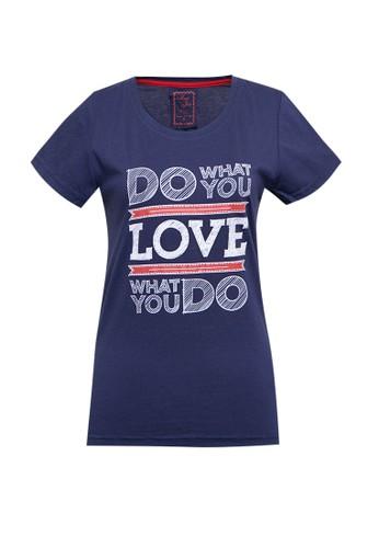 MEIJI-JOY navy Tshirt Kaos Lengan Pendek Print 03C6BAA790FE9BGS_1