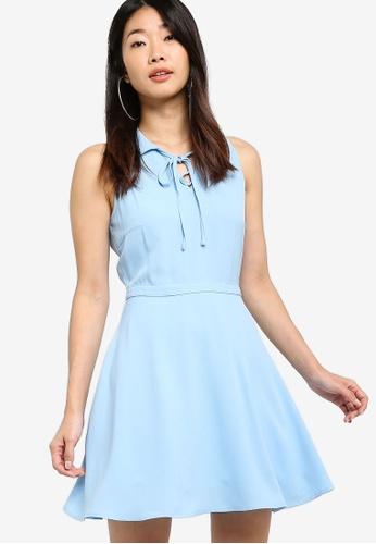 Something Borrowed 藍色 Relaxed Mini Collared Dress 0A146AA443532AGS_1