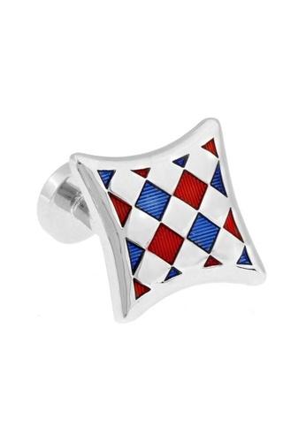 The Little Link Cufflinks red Checkered cufflinks TH089AC0G1JUSG_1