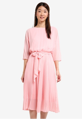 ESPRIT pink Light Woven Midi Dress 54AA6AA35ED96CGS_1