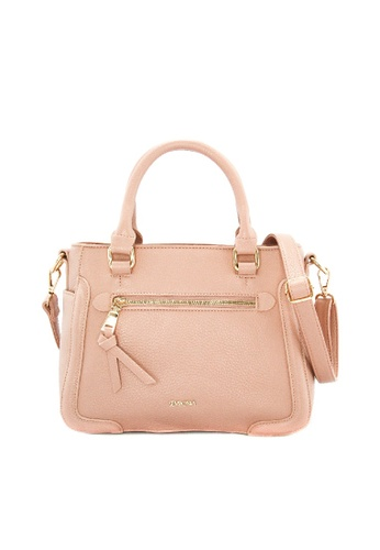 SEMBONIA pink SEMBONIA Synthetic Leather Tote Handbag (Pink) SE598AC04AUDMY_1