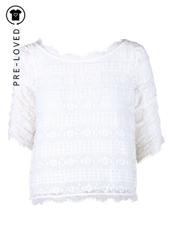 Joie white Pre-Loved joie Floral Embroidered Fanny White Lace Top 5B593AAC0C12A1GS_1