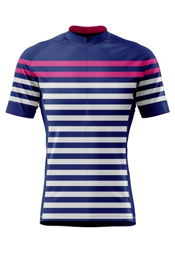 Trijee white and pink and purple and multi Trijee Leontien Unisex Cycling Jersey - Purple Pink 120AFAAF3771F0GS_1