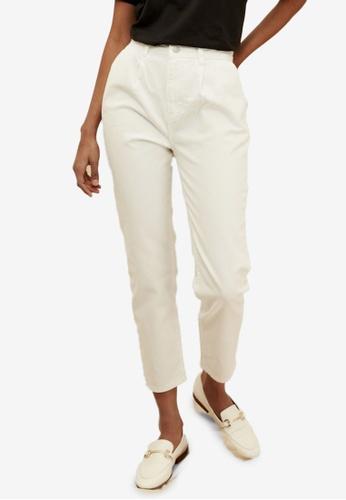 Trendyol 白色 High 腰圍 Organic Sustainable Mom 牛仔褲 99D8DAA9EF08F1GS_1