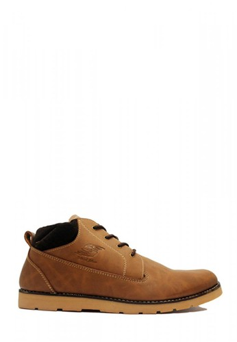 D-Island brown D-Island Shoes Boots Sole Rubber Top Velvet Leather Brown DA219SHA341601GS_1