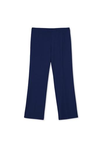 MS. READ blue Essential Straight Cut Pants D3CE9AABCB50E5GS_1