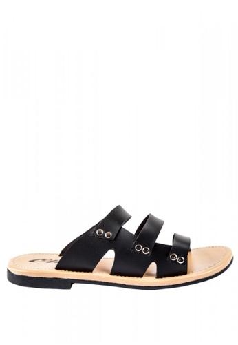 Otto black JM Aryana Strappy Slide Sandals D5CEBSH8818761GS_1