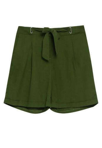 LC Waikiki green Tie Waist Detailed Shorts DC1B3AA0699521GS_1