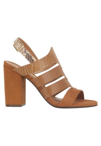 Beira Rio brown Sling Back Block Sandal VI997SH53ETMHK_1