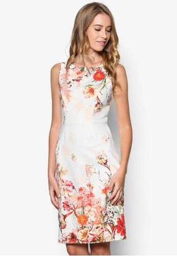 Petite 花卉直筒連身裙, 韓系時尚,esprit 兼職 梳妝