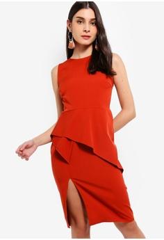 fa921eedb6 ZALORA orange Asymmetrical Sleeveless Dress 592B7AAE01A52DGS 1