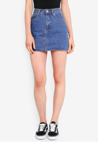 Buy Factorie Classic Denim Skirt Online on ZALORA Singapore 41c987394