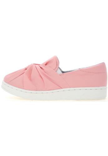 Maxstar Maxstar 202 Bow Synthetic Leather Classic Fashion Slip-on Sneakers US Women Size MA168SH74URXHK_1