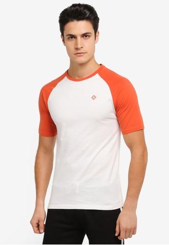 JAXON white and multi Short Sleeves Raglan Logo Tee 6945BAA0BB2C45GS_1