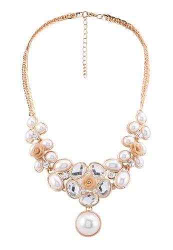 閃石珍珠項鍊, 飾品配件, 項zalora 台灣鍊