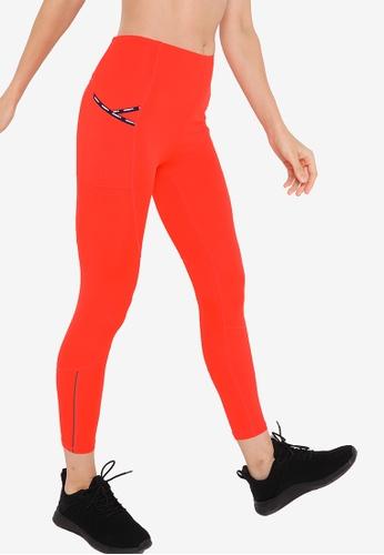 Superdry 紅色 Run 7/8 緊身褲 - Sports Performance 4C17DAA1FE11E9GS_1