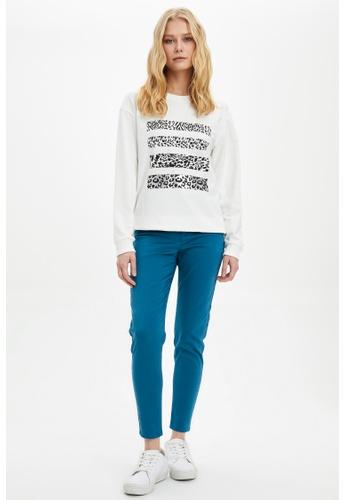 DeFacto beige Woman Knitted Sweat Shirt B6E7AAACCF67F7GS_1