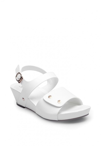 7soles white Gilmi Wedge Sandals EADE3SHCCB8B88GS_1