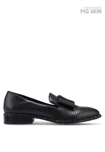 Keddo black Pebbled Heel Shoes 7B8DDSH70D426EGS_1
