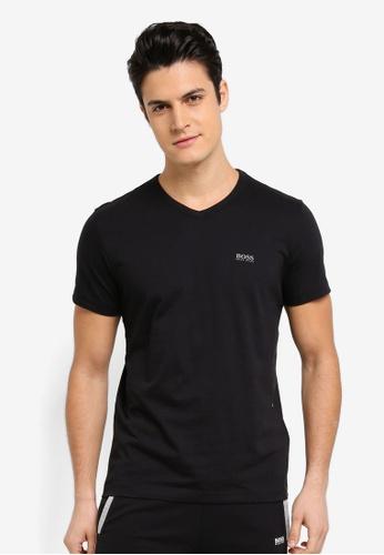 BOSS black V-Neck T-Shirt - Boss Athleisure 31095AA0A02369GS_1