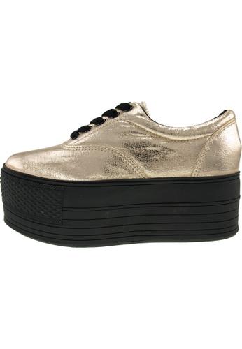 Maxstar 金色 新款韩国鞋C60-5H-TC時尚皮革布混合女金色 US Women Size MA345SH46HGVTW_1