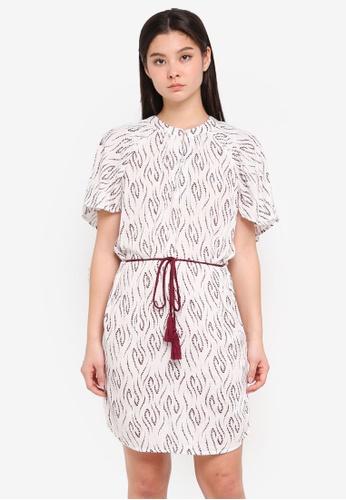 ICHI white Cerri Dress C0F97AA1C85C0AGS_1