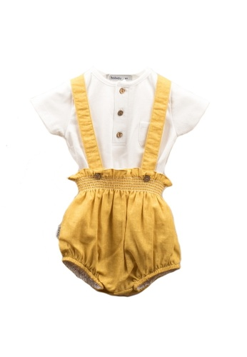 RAISING LITTLE white and yellow Andre Outfit Set E6D7FKABCC4AEBGS_1