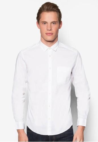 素色長袖襯衫、 服飾、 襯衫ESPRIT素色長袖襯衫最新折價
