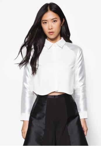 前短後長造型esprit outlet 旺角襯衫, 服飾, 上衣