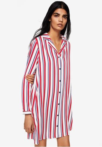 Mango white Printed Shirt Dress 5071EAA99955C8GS_1