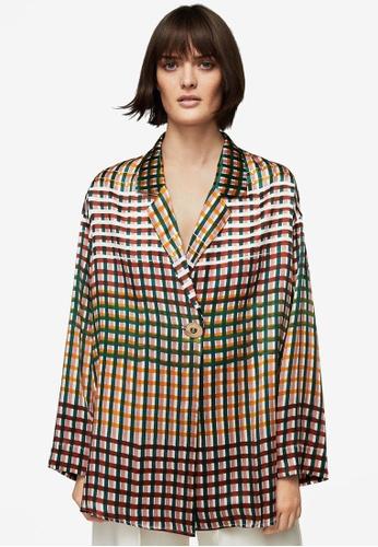 Mango green Premium Wrap Silk Blouse MA193AA0S9MEMY_1