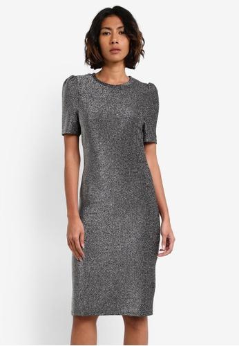 Dorothy Perkins silver Silver Lurex Bodycon Dress DO816AA0RY1DMY_1