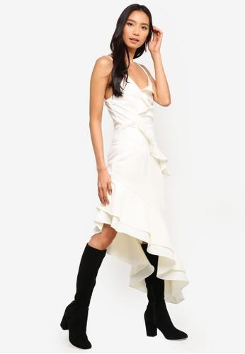 c38969b21b6 Preen & Proper white Asymmetrical Ruffle Cami Dress 41DDCAAC3A736CGS_1