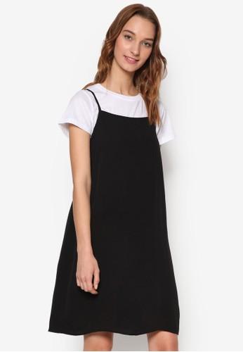 90esprit mongkok年代簡約無袖吊帶裙, 服飾, 洋裝