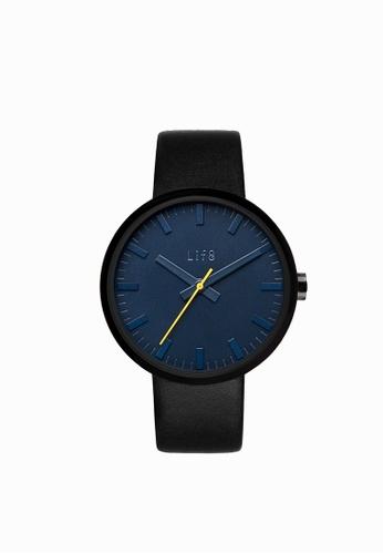 Life8 blue Watch In Blue With Yellow Highlight【05254】 LI248AC2W73OHK_1
