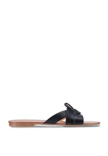 Twenty Two 黑色 Cindra Slide Sandals 5611ESHE8E425FGS_1