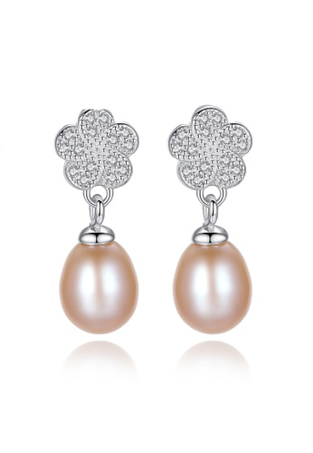 A.Excellence pink Premium Pink Pearl Elegant Earring 82640AC3E008EDGS_1